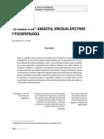 Articulo Apegado a Mí Angustia, Vínculos Afectivos y Psicopatología