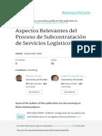 Aspectos Relevantes Del Proceso de Subcontratacion