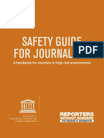 RSF Safety Guide for Journalists