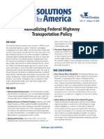Revitalizing Federal Highway Transportation Policy