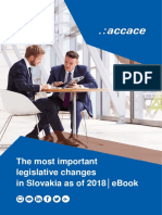The most important legislative changes in Slovakia as of 2018│eBook
