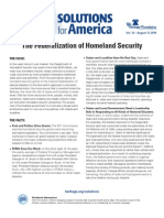 The Federalization of Homeland Security