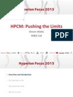 HPCM Pushing the Limits Simon Watts