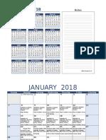 2018-Calendar of Activities