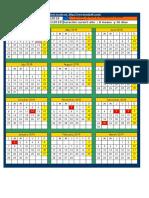 Plantilla Para Calendarios Escolares