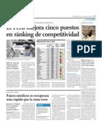 El Prerú mejora cinco puesto en ranking de competitividad