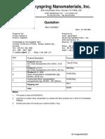 Skyspring Nanomaterials, Inc.-15073007- $4285 USD