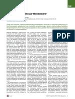 Biophysics of Molecular Gastronomy