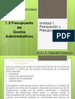 1.3. Presupuestos de Gastos Administrativos