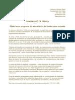 Comunicado de Prensa - PioMu lanza programa de recaudación de fondos para escuelas