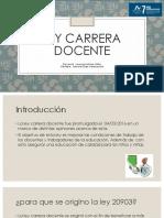 Presentacion Ley Carrera Docente