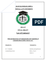 Law of Contracts FINAL DRAFT