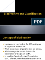 biodiversity and classification  1