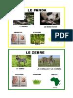 Carte Zebre Panda