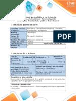 Guía de actividades y Rúbrica de evaluación - Paso 1 - Conceptualización y fundamentación teórica de planeación y marketing
