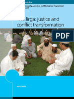 The Jirga Justice and Conflict Transformation