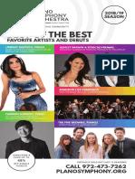 2018/19 Plano Symphony Orchestra Season Brochure