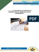 10 Evidencia 06 Balance de Las Ventajas Ydesventajas en El Diseño Del Plan de Mejoramiento
