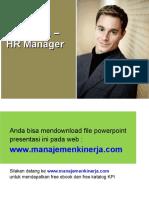Tabel KPI HR Manager - KPI Manajer SDM