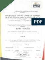 Surtigas Gas Presion Temperaturafile 7867 Certificado de Acreditacion Onac 2015 Iso Iec 17025