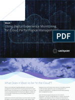Using Digital Experience Monitoring for Cloud Performance Management