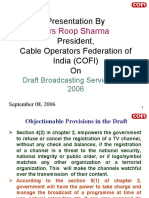 Roop Sharma, President, Cable Operators Federation of India