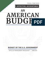 Budget Fy2019