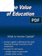 value of education powerpoint