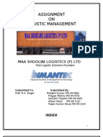 Logistic Mgmt.