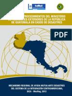 Guatemala Manual de  Desastres