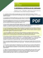 M2CS - 3 Probabilidad - EJERCICIOS APLICACIONES de LA NORMAL - Inferencia.intervalos de Confianza