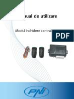 Manual de Utilizare Modul Inchidere Centralizata Pni 288