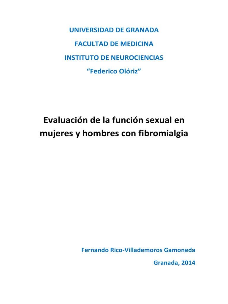 disfunción sexual en mujeres con fibromialga