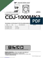 Manual de Servicio cdj1000mk3