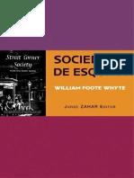 Sociedade de Esquina - William Foote Whyte