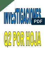 Investigaciones x Hoja