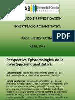 Perspectiva Epistemológica de La Investigación Cuantitativa