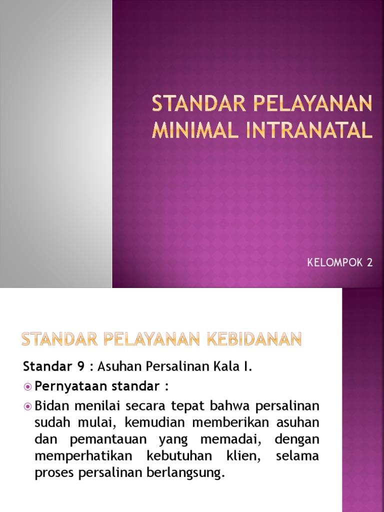 Standar Pelayanan Minimal Intranatal