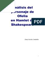 Analisis Del Personaje de Ofelia en Haml