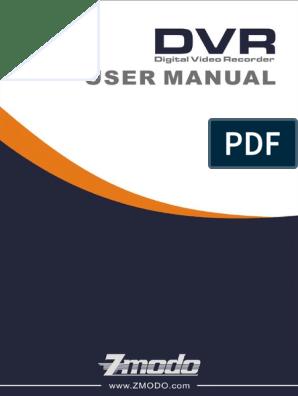Zmodo DVR H9104-H9116 v3 Manual pdf | Menu (Computing