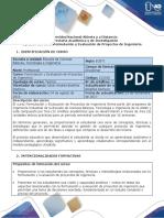 Syllabus Del Curso Formulación y Evaluación de Proyectos de Ingeniería