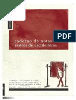 Caderno de Notas 2 - Monteiro (2011) Rastros de Escrileituras
