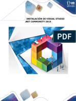 Instalacion Visual Studio Community 2015