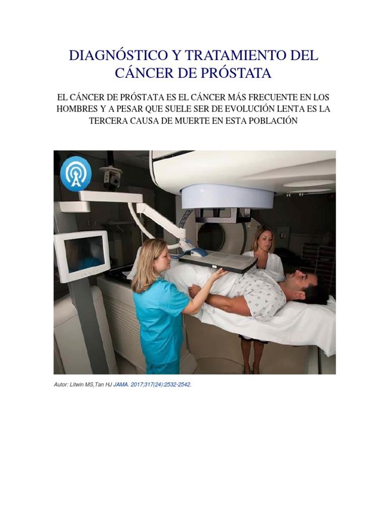 causa de muerte cáncer de próstata metastásico