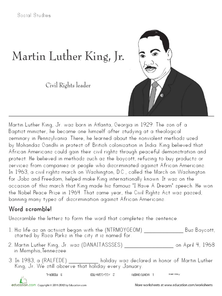 Historical Heroes Martin Luther King Jr