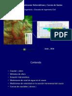 Análisis Hidrológicos Mediciones Hidrometricas_sección y Velocidad