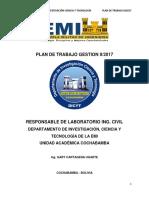 Propuesta Plan de Trabajo II-2017 Ing. Gary Cartagena Ugarte