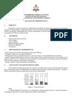 ROTEIRO SEDIMENTAÇÃO