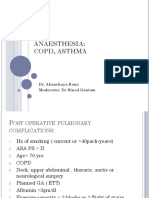 ANAESTHESIA for Copd Asthma