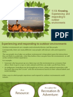 1.1.5- Knowing, Experiencing and Responding to Outdoor Environments